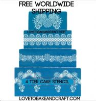 Wedding cake stencil, 4 piece set, stencil, Birthday cake stencil, cake decorating stencil, Free worldwide shipping (1) (2) (5) (6) (8) (9) (10)